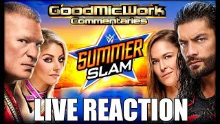 WWE SummerSlam 2018 LIVE REACTION | Brock Lesnar vs Roman Reigns