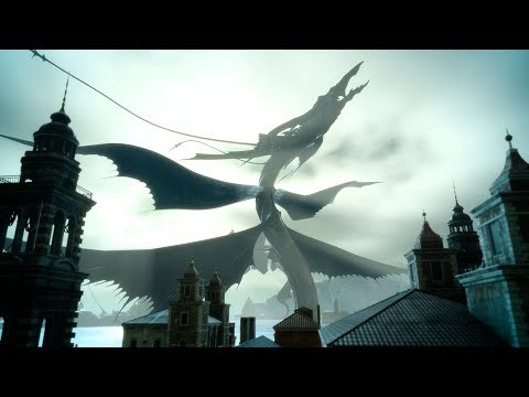 Final Fantasy XV PC - Leviathan Boss Fight (4K 60fps)