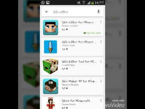 Minecraft Skins Am Handy Erstellen YouTube - Skin fur minecraft pe erstellen