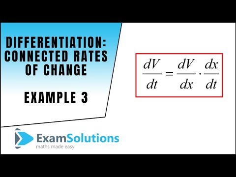 Connected Rates of Change - C3 OCR June 2012 Q6 : ExamSolutions Maths Revision