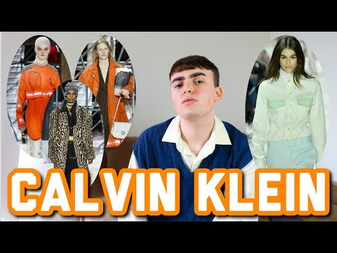 Reacting to Calvin Klein's Fall 2018 Fashion Show ft. Kaia Gerber and Raf Simons