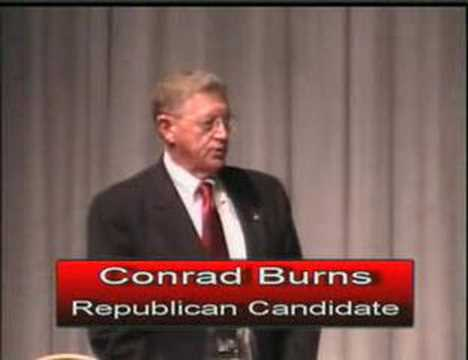 Jon Tester Conrad Burns Hamilton Debate Part 1