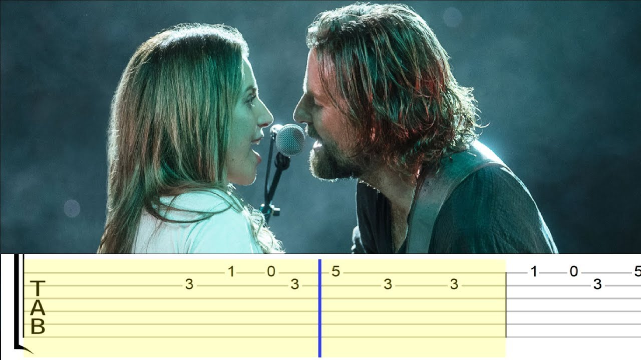 Lady Gaga & Bradley Cooper - Shallow (A Star is Born) (Easy Guitar Tabs  Tutorial)