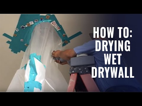 How To Dry A Wet Drywall Ceiling You