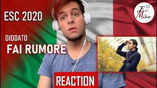 Eurovision 2020 - Italy [REACTION] - Diodato - Fai rumore