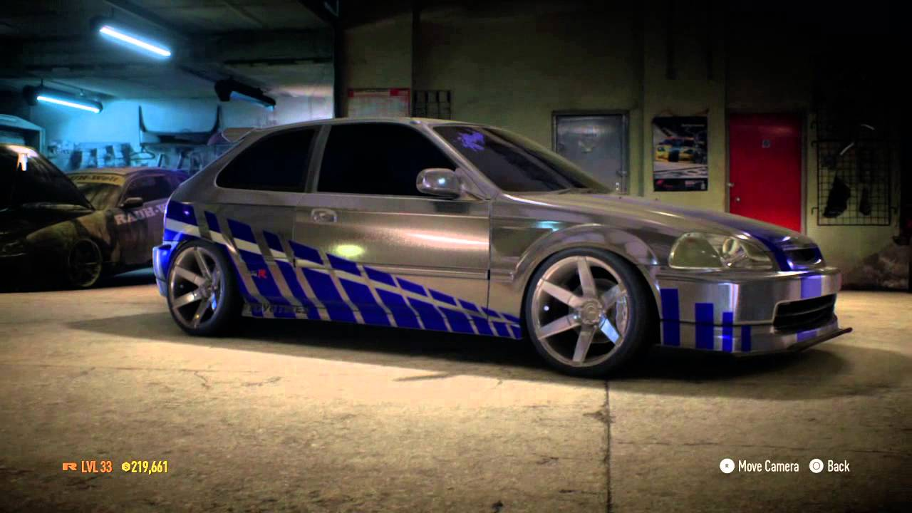 need for speed 2015 first fast n furious honda civic youtube. Black Bedroom Furniture Sets. Home Design Ideas