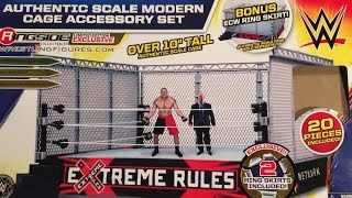 WWE ACTION INSIDER: STEEL CAGE ACCESSORY for WWE Authentic Scale Wrestling Ring Review