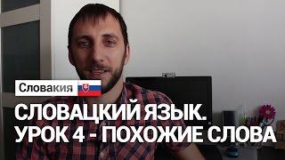 Урок 4. Словацкий язык. Похожие слова