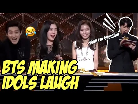 BTS MAKING IDOLS LAUGH / BTS FUNNY MOMENTS
