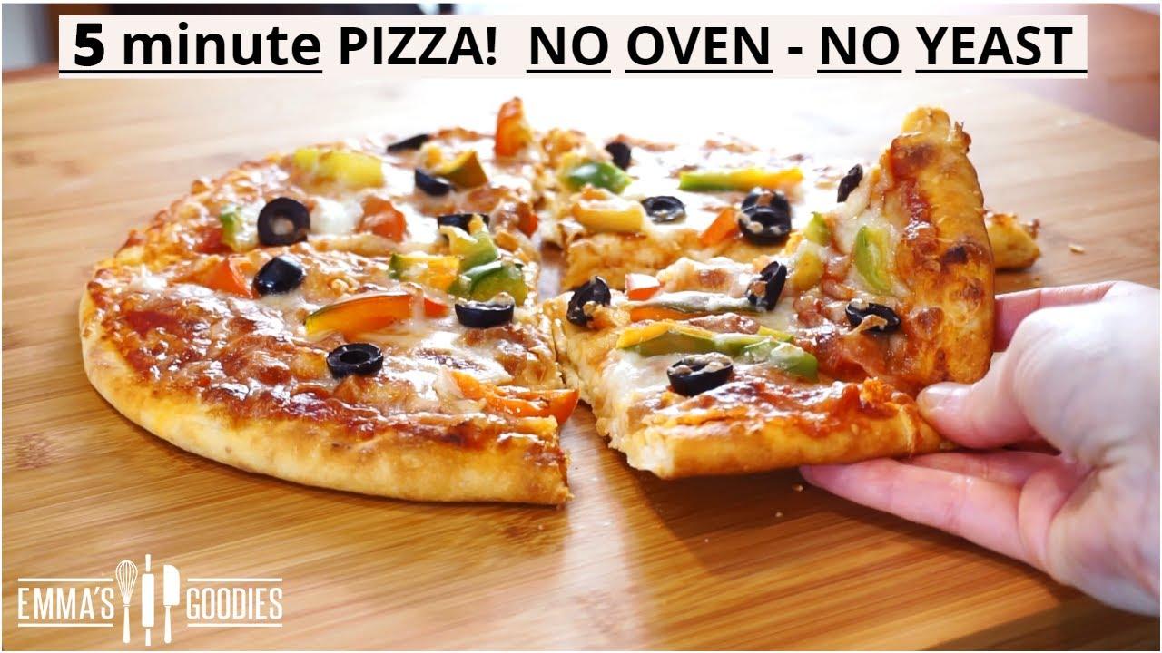 İtalyan çift peynirli pizza - Kore sokak yemeği