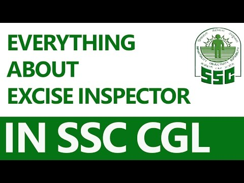 Everything about Excise Inspector in SSC CGL (in Hindi)