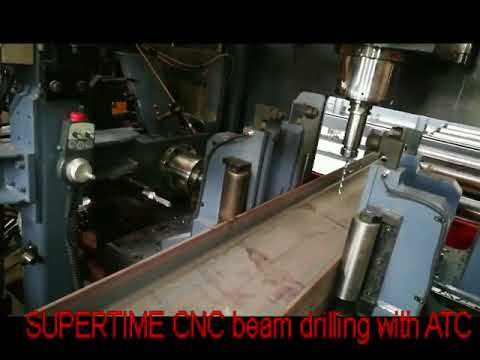 CNC high speed structural beam drilling with ATC