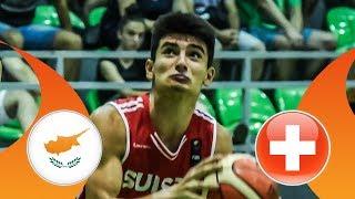 Cyprus v Switzerland - CL 17-24 - Full Game - FIBA U16 European Championship Division B 2018 thumbnail