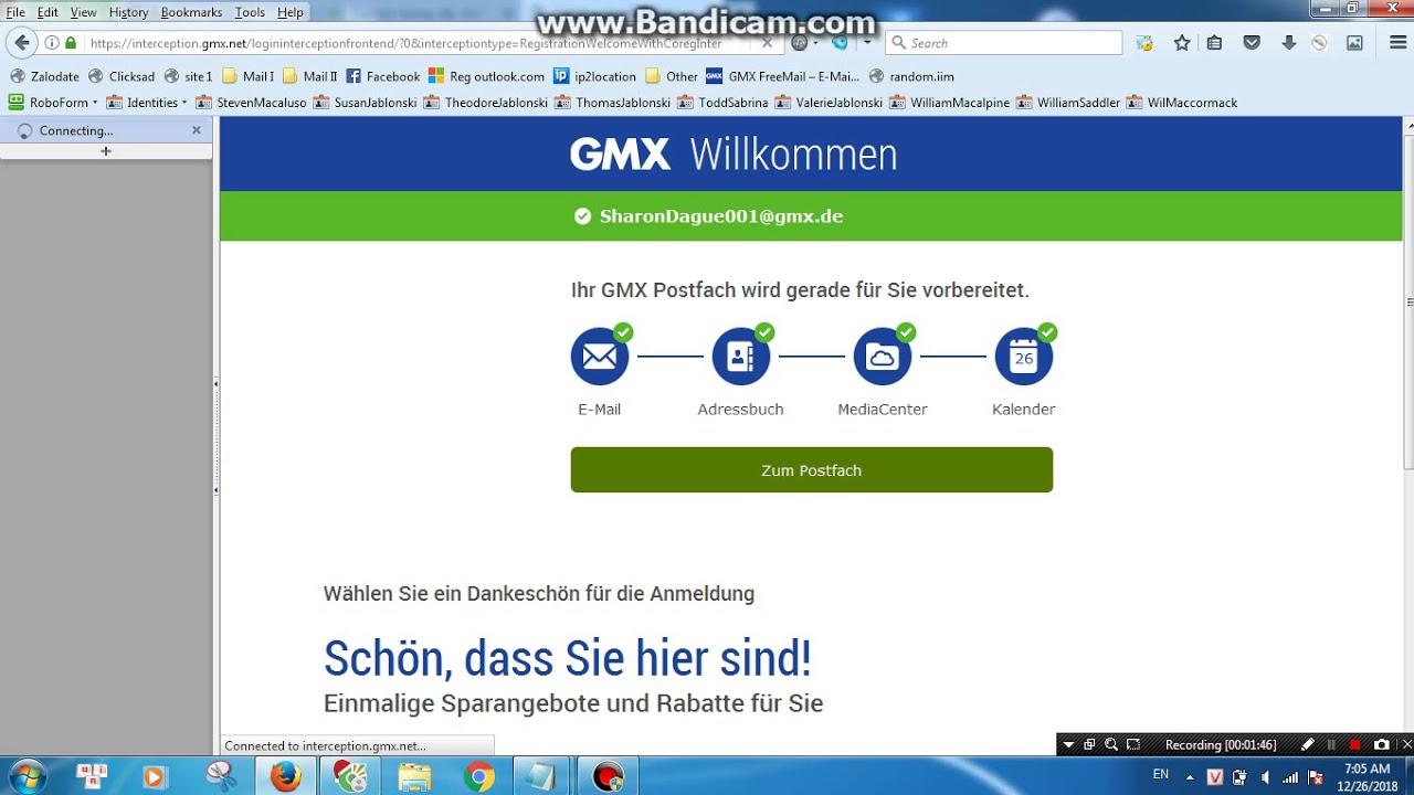 lập mail gmx.net - YouTube