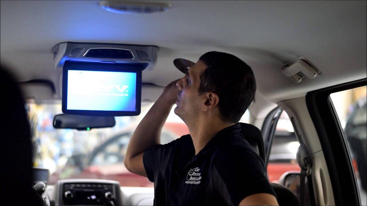 2016 Dodge Grand Caravan Flip Down Dvd Roof Mount System Youtube 2012 Trailer Wiring Harness