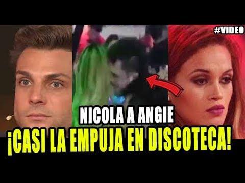 NICOLA PORCELLA VUELVE A EMPUJAR A ANGIE ARIZAGA EN CONOCIDA DISCOTECA