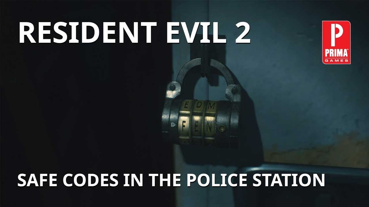Resident Evil 2 Safe Codes in the Police Station