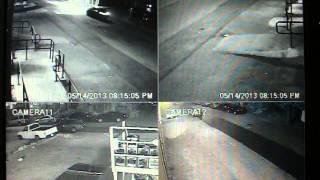 Security Camera Raw Footage, Trash Bin Fire