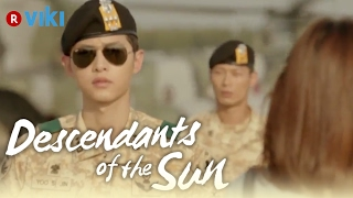 Descendants of the Sun EP3 Song Joong Ki Comes Out Of Airplane To Greet Song Hye Kyo Eng Sub