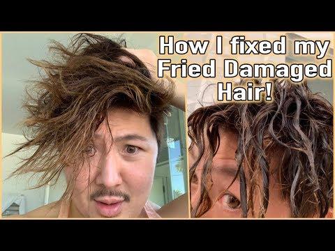 How I Fixed My Fried Damaged Hair! - Guy's World 6