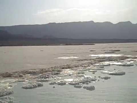 Floating in Lake Assal, Djibouti