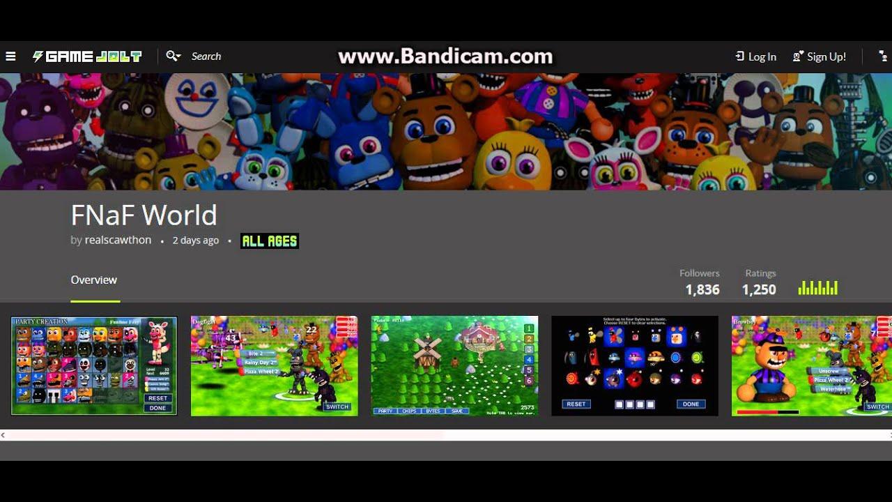 fnaf world download gratuito gamejolt youtube