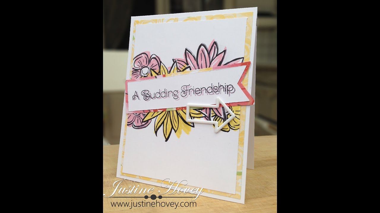 Nice How To Make Friendship Cards Part - 6: Brushed Paper Pack Blog Hop Friendship Card Tutorial - YouTube