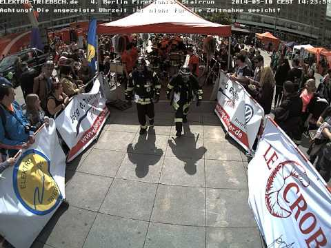 4. Berliner Firefighter Stairrun 2014 Webcam Start ab 14:13 Uhr