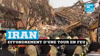 IRAN - Effondrement en direct d