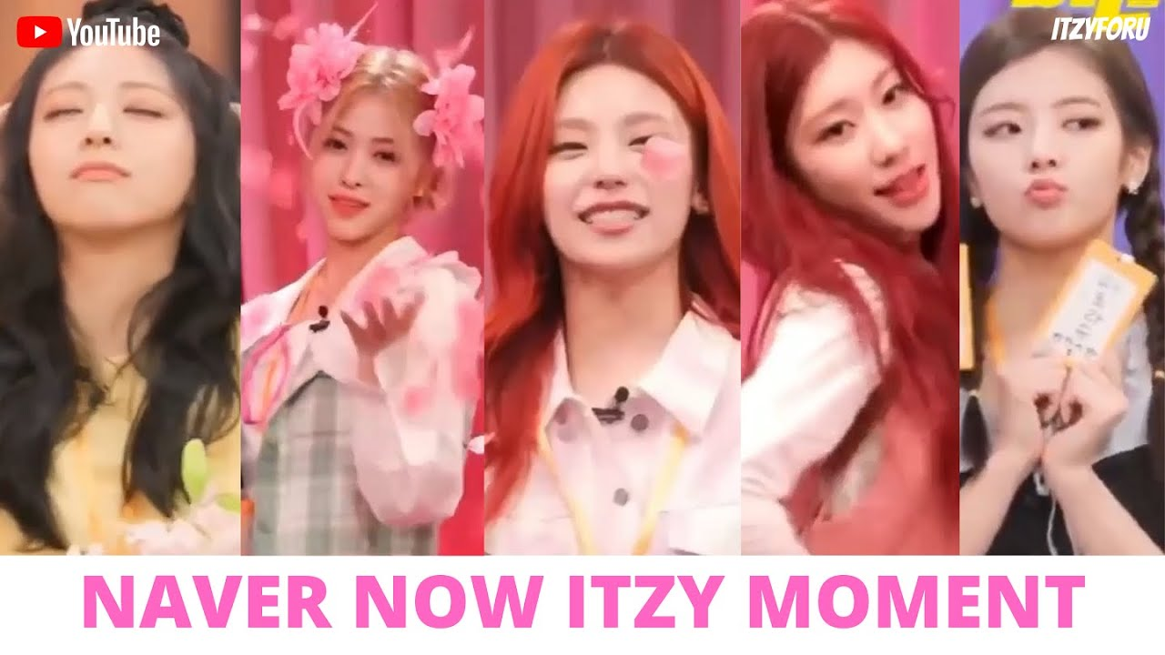 Yeji with Confetti again and Ryujin Spoiler Guess Who Comeback ITZY (있지) Naver Now Moment