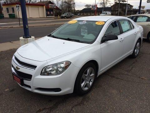 2010 Chevrolet Malibu Ls White Hometown Motors Of Wausau Used Cars