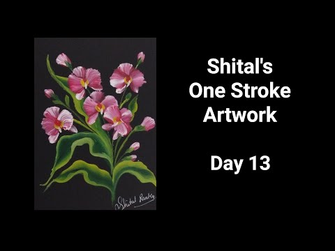 Beginners Guide Series |One Stroke Painting  Day 13|Round Brush Painting