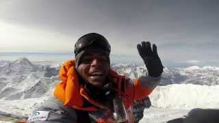 Amazing video from top of Mount Everest: Anand Kumar on peak(Amazing self video with breathtaking views taken by S. Anand Kumar from top of the world- summit of Mount Everest. Anand Kumar of India is now the first Dalit ..., 2014-06-07T11:21:09.000Z)