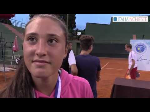 Tennis Europe Junior Master 2016 - Intervista con Federica Sacco