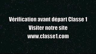 Verification avant départ VAD classe 1