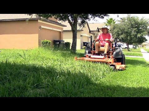 Realtime mowing 13 - full clips from thick thick grass vlog 31