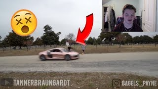REACTION TO BAILEY PAYNE GETTING HIT BY AN R8!