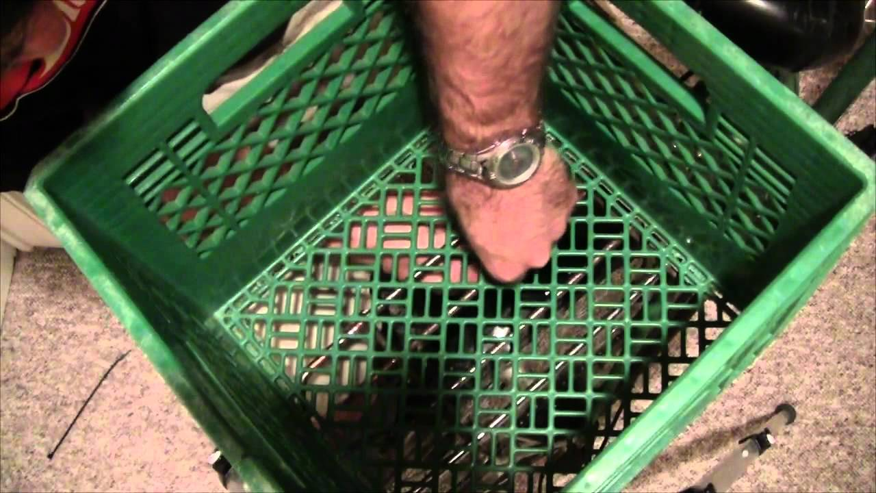 How To Install A Milk Crate On A Bicycle Using Zip Ties