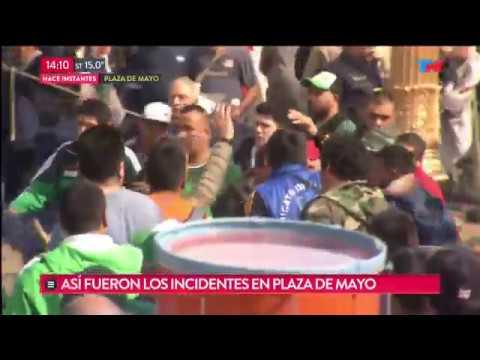 Incidentes entre facciones durante la marcha de la CGT