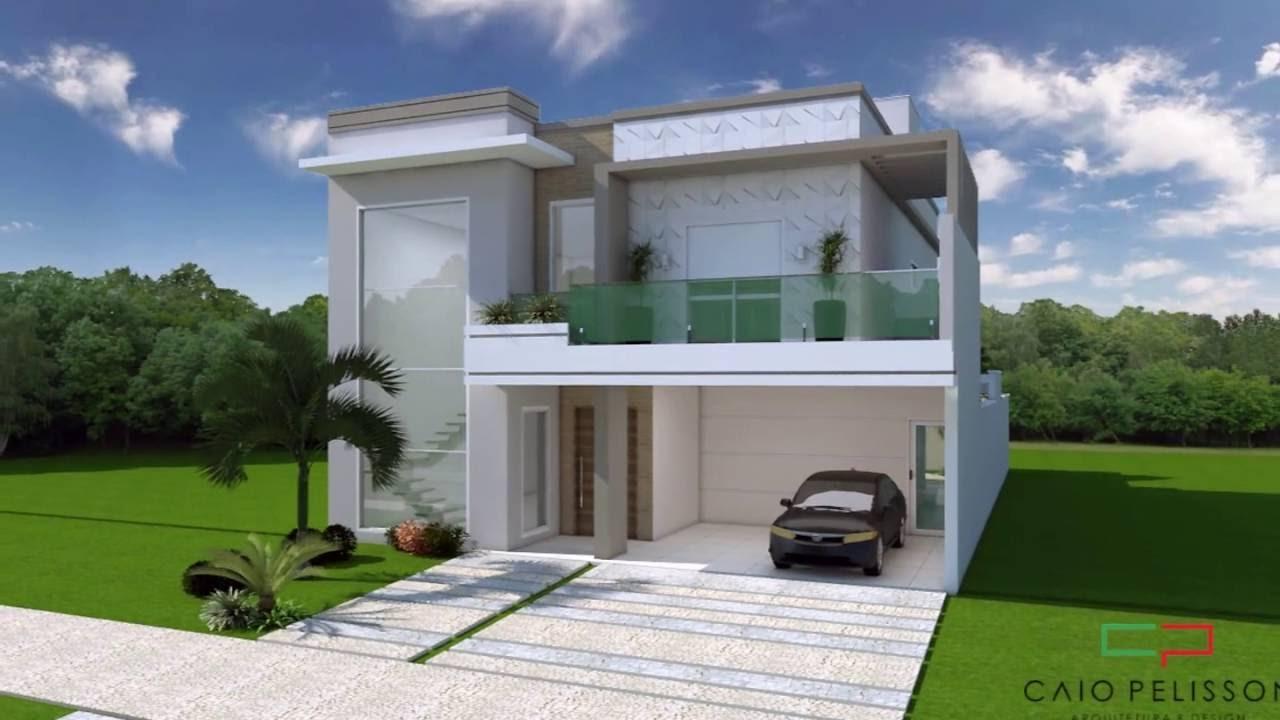 Muitas vezes Projeto Casa Sobrado 03 Suites terreno 11x25 condominio Fachada  HB99