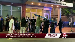 Peaceful protests followed by clashes with Boston police Friday night