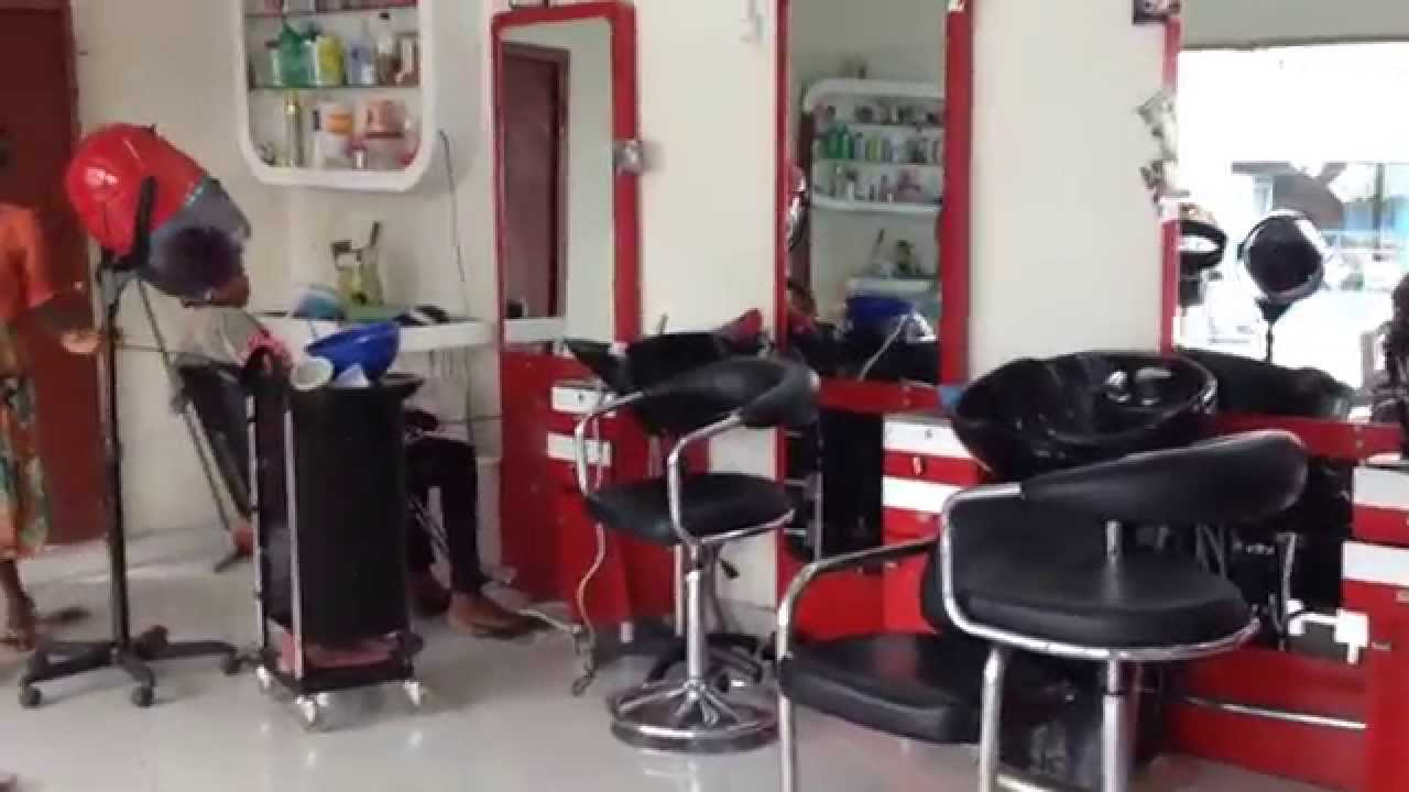 Salon de coiffure Mamy à kinshasa - YouTube