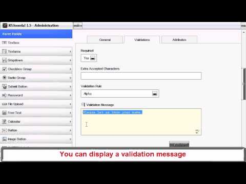 Ep8 - Creating Forms For Joomla! Using RSForm! Pro