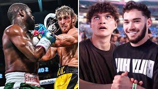 YouTubers React To Logan Paul vs Floyd Mayweather Live!