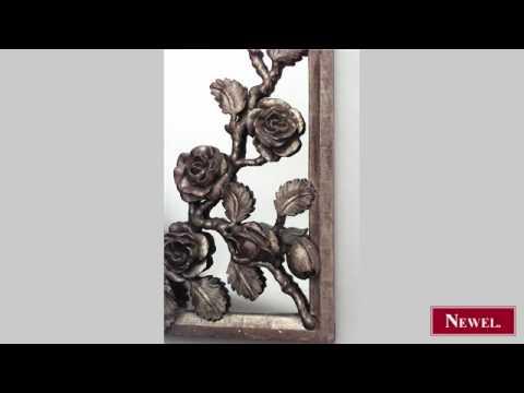 Antique French Victorian gilt carved floral design half