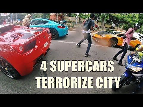 4 Supercars 'DRIVE IT LIKE YOU STOLE IT' in The City