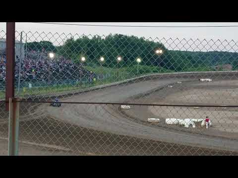 Ryan Quackenbush Big Diamond July 20th, 2018 USAC EC mini sprint week HOT LAPS