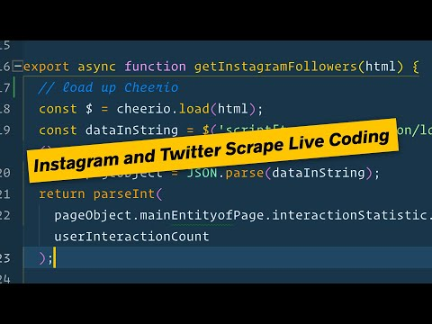 Wes Live Codes a Twitter and Instagram Scraper with Node.js