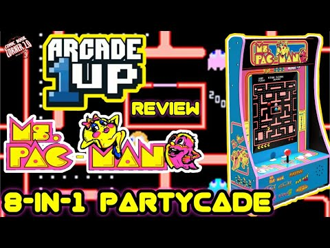 Arcade1Up Ms. Pacman 8-in-1 Partycade Arcade Machine | Unboxing Gameplay and Review. from Comic Book Corner 2.0