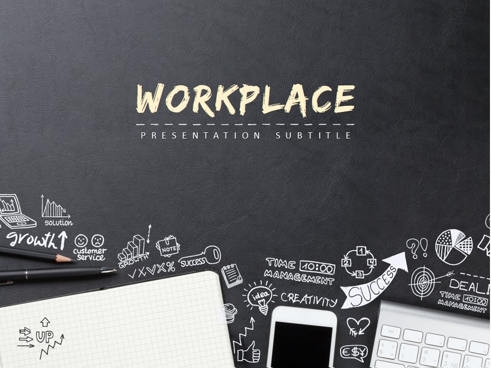 workplace animated powerpoint template